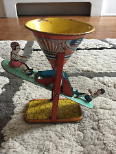 Vintage J. CHEIN Tin SEE SAW Toy 1930s-1950s Boy and Girl