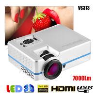 1080P HD LED Mini Projector Multimedia Home Theater Cinema AV VGA SD USB HDMI