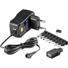 Universal Stecker-Netzteil 3-4,5-5-6-7,5-9-12V 0,3A 3,6W mit 9 Adaptern goobay