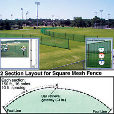 "Outfield Fencing 48""H x 150'L Roll - Scarlet (Fence Only)"