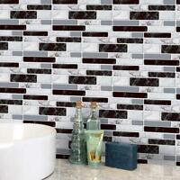 9pcs 3D Brick Tile Sticker Self-adhesive Wall Stickers Bathroom Y4S1 Home L2U2