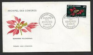 Comoros Island 1970 Euphorbia Pulcherrima FDC