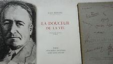 ROMAINS Jules La douceur de la vie orné d'une lithographie originale de Heuzé