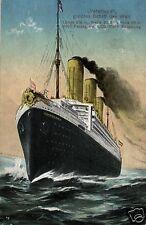 2918/ Künstler AK, Vaterland, größtes Schiff der Welt, 1914