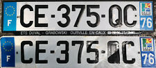 France License Plates (Seine-Maritime – Rouen – Haute-Normandie)