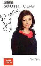 Dani Sinha Signed BBC News South Today Broadcaster Photo / Postcard AFTAL COA