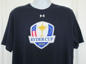 Under Armour 2020 Whistling Straits Ryder Cup Golf T-Shirt Navy Blue Size XL NWT