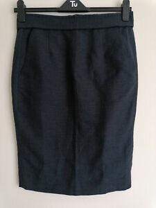 Isabel Marant Etoile Linen and Cotton Dark Grey Skirt Size 38