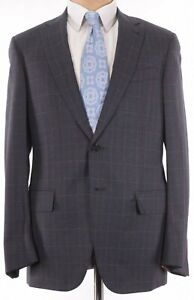 ISAIA NWT Suit Sz 40R In Charcoal Gray W/ Blue Plaid Flannel Wool $3,995