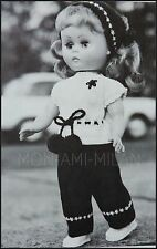 Knitting Pattern • Dolly Dolls Clothes • Bobble-Trim Top Trousers Headscarf 14""