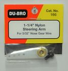 """DU-BRO 1-1/4"""" NYLON STEERING ARM FOR 5/32"""" NOSE GEAR WIRE ( CAT. # 166 )"""