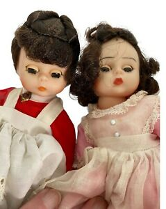 Vintage.Alexander-kins USA Two Dolls Jo & Beth Collectible Little Women  7 inch