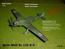 Focke Wulf Ta 152 C-9   1/72 Bird Models Resinumbausatz / resin conversion