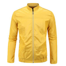 New Arrival Solid Autumn Jacket For Men - Yellow