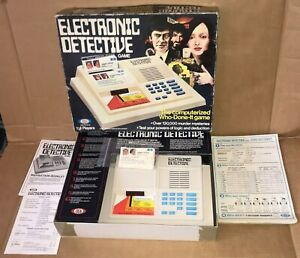 Electronic Detective Game by Ideal - Spares, Cards, Fact sheet, Instruction