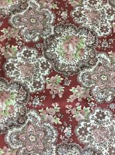 Vintage Fabric Foral Flowers Paisley Soft Cotton 115 X 120