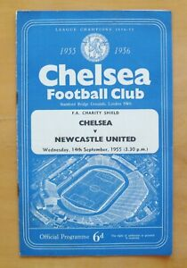 CHELSEA v NEWCASTLE UNITED Charity Shield 1955 *VG Condition Football Programme*