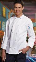 Vtex White Chef Coat, 10 Knot Cotton, XS to 2XL, 0403C