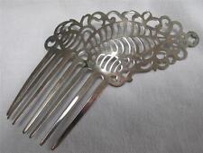 Antique Early 19th Century Hair Comb - Ornate Pierced Steel - Asymmetrical c1810