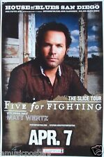 "Five For Fighting 2010 San Diego ""The Slice Tour""Poster"