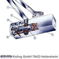 GEZE TS 2000 V Türschliesser mit Feststellarm Ein/Aus silberfarbig