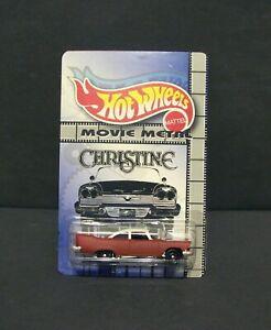 "Custom HotWheels PLYMOUTH FURY and package of  ""Movie Metal""  CHRISTINE bloody"