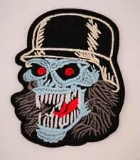 PATCH  ÉCUSSON THERMOCOLLANT BIKER SKULL CASQUE MOTO HARLEY DAVIDSON CUSTOM ROCK