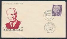 Deutsche Briefmarken des Saarland (1947-1959) aus Einzelmarke mit Ersttagsbrief