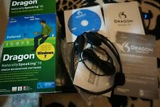 Dragon NaturallySpeaking 10 Preferred Speech Recognition Software with headset