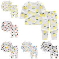 Kids' Tops+Pants Toddlers Sleepwear Tops+Pants Summer 2pcs/Set Pajamas Sleepwear