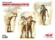 ANZAC Infantry 1915 4Figures (Australian New Zealand) Plastic Kit 1/35 ICM 35685