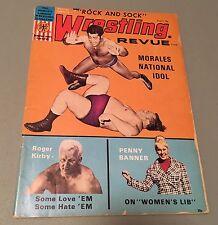 August 1971 Wrestling Revue Magazine Pedro Morales Penny Banner Bonus WWWF NWA