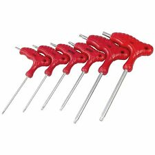 6pc T-Handle Magnetic Torx Star Key Set T10 To T40 Tamper Proof Torx Drivers CRV