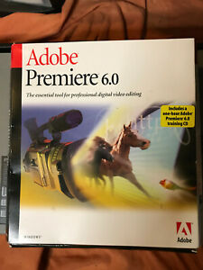 Genuine Adobe Premiere 6.0 for Microsoft Windows With Serial Number And Guide