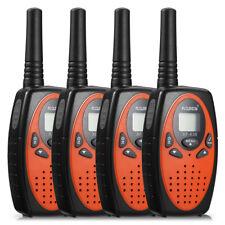 4 Pack 22Ch Walkie Talkies 2-Way Radio Interphone Frs/Gmrs Lcd Display Max 5Km