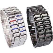 New Fashion TVG Cool Volcanic Lava Style Iron Faceless Binary LED Wrist Wristwat