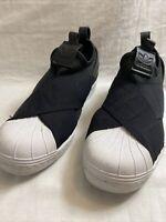 Adidas Low Cut Superstar Slip On Sneakers - Size US 7 Womens - LikeNew