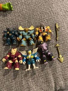 Hasbro Takara Lot of 6 Vintage Battle Beast Action Figures 1980's W/Two Weapons