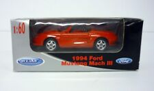 WELLY 1994 FORD MUSTANG MACH 3 1:60 Collection Die-Cast Car MISB