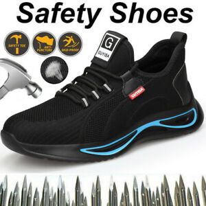 Steel Toe Cap Safety Trainers Lightweight Women Work Boots Shoe Hiking Shoes UK