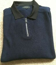 MAN'S NAVY ZIP NECK JUMPER SIZE SMALL FROM RIVER ISLAND