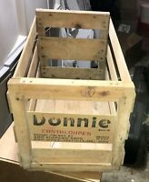 Vintage Donnie Cantaloupe Wood Crate