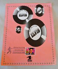 Commemorative Sheet Us Stamp #2721 Elvis Station January 8 1993 Pleasantville Ny