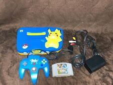 Genuine Limited Nintendo 64 Console System Pikachu Japan Game NTSC-J N64 JP