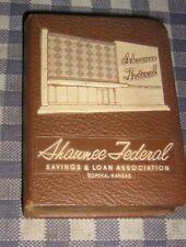 Vintage Coin Book Bank, Shawnee Federal Savings & Loan, Safe, Topeka, Kansas