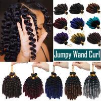 Ombre Jamaican Bounce Jumpy Wand Curl Crochet Twist Braiding Hair Extensions US