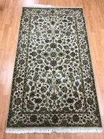 3' x 5' Indian Floral Design Oriental Rug - Full Pile - Hand Made - 100% Wool