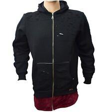 Mens TIM Winter Hoodie Zip Up Hooded Jacket Sweatshirt Long Sleeve Long Length