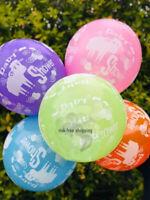 "Pack of 10 - 12"" Latex Balloons Baby Girl/Boy - sheep print Baby Shower Balloons"
