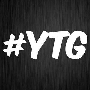 #YTG Yeah The Girls Sticker JDM Drift Funny Vinyl Car Window Decal 190mm x 65mm